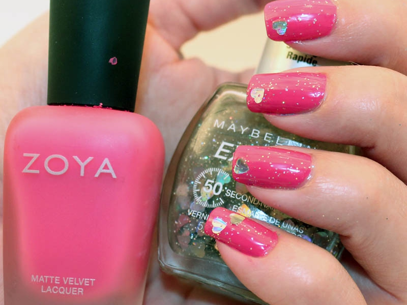 Zoya Lolly with Maybelline Express Finish Clearly in Love