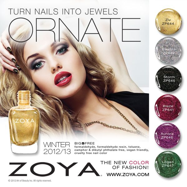 Zoya Winter/Holiday ORNATE Collection Preview!