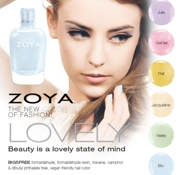 Zoya Lovely Collection for Spring 2013 Press Release… and some Swatches!
