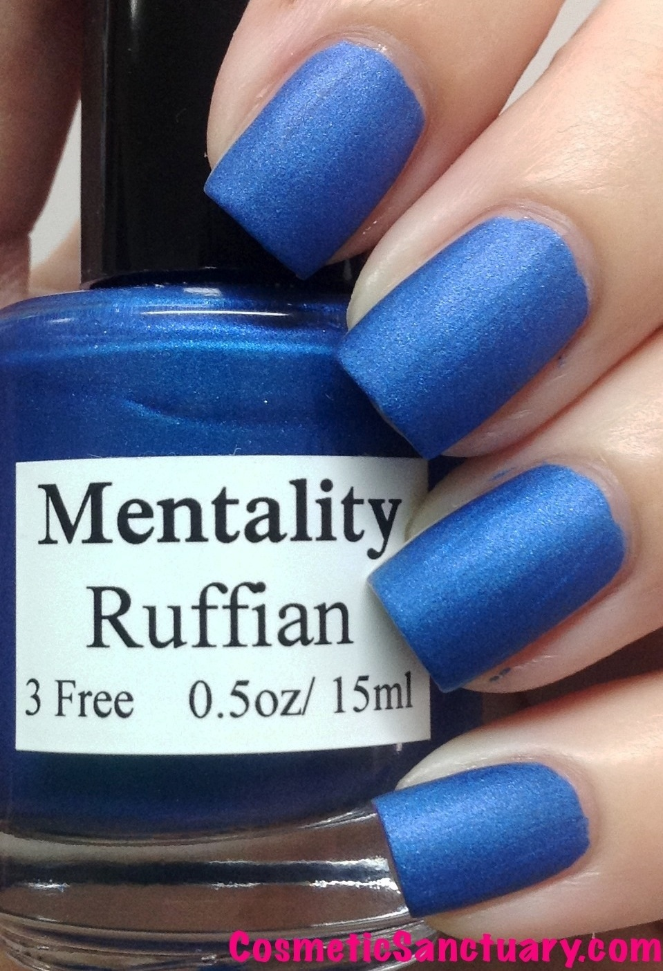 Blue Shimmery Matte