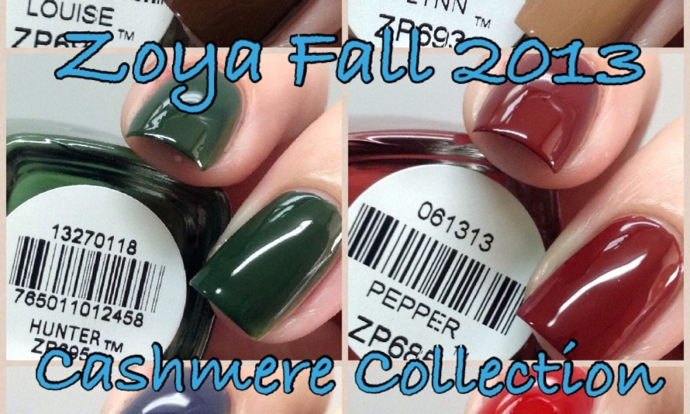 Zoya Fall 2013 Cashmere Collection Swatches and Review