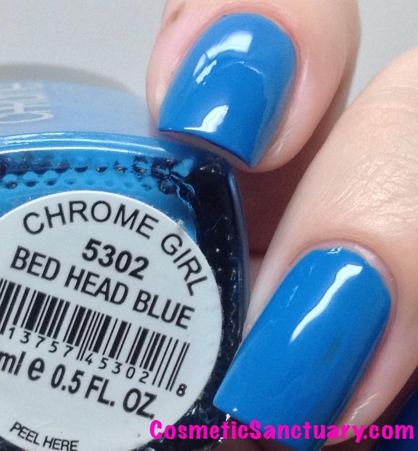 Bed Head Blue Closeup