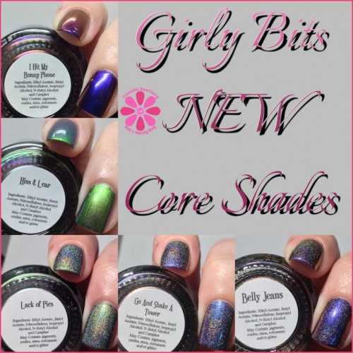 NEW Girly Bits Holographics and Multi Chromes Swatches and Review