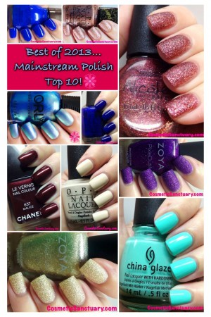 Best of 2013 Top 10 Mainstream Nail Polishes
