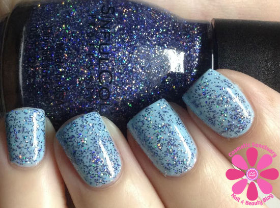 SinfulColors Holiday Tinsel & Glitter Topcoats for Holiday 2013 Swatches and Review