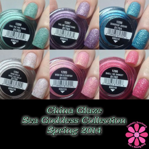 China Glaze Sea Goddess Collection Swatches & Review
