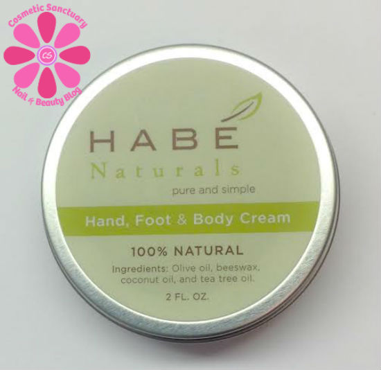 Habé Naturals Hand, Foot & Body Cream Review and Giveaway