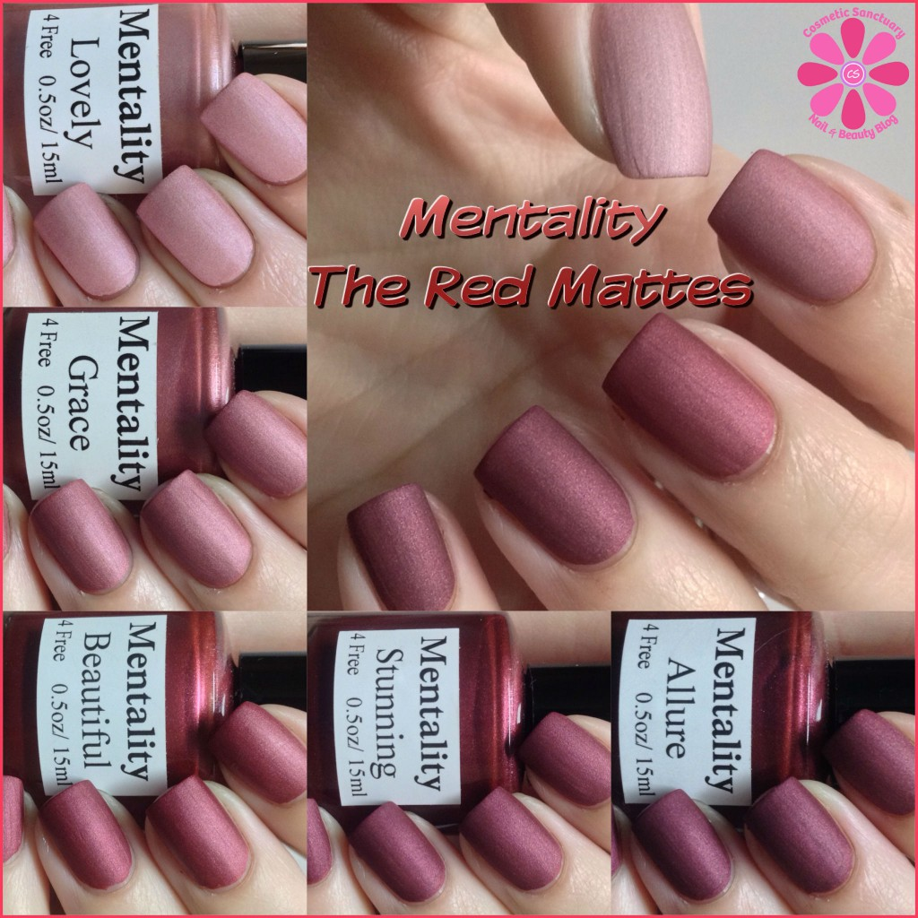 Mentality The Red Mattes Swatches and Review