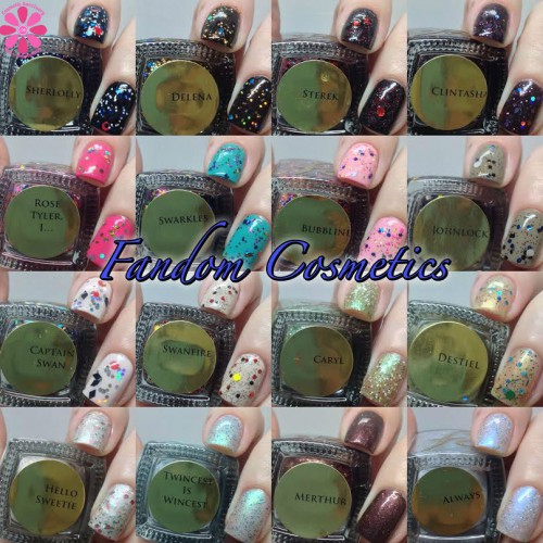 fandom cosmetics collage