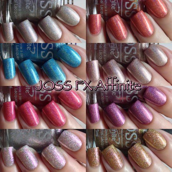JOSS FX Affinite Holographic Nail Lacquer Swatches & Review