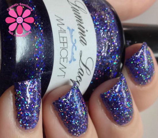 Lumina Lacquer Maleficent & Prismatic Swatches & Review