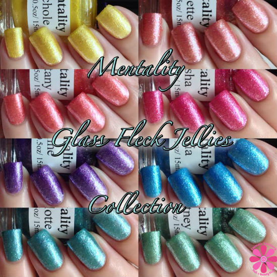 Mentality Glass Fleck Jellies COllage