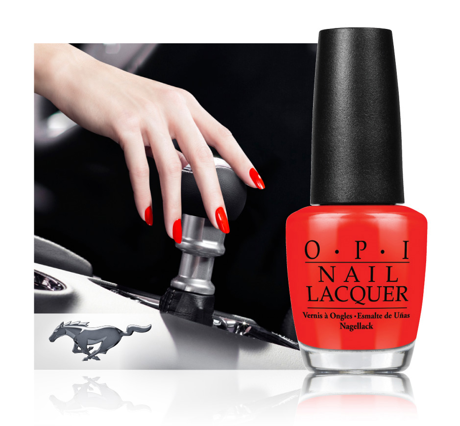opi teams up with ford to celebrate mustang s 50th anniversary inspired limited edition. Black Bedroom Furniture Sets. Home Design Ideas