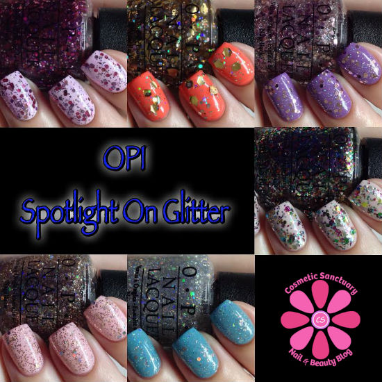 Spotlight On Glitter Collage