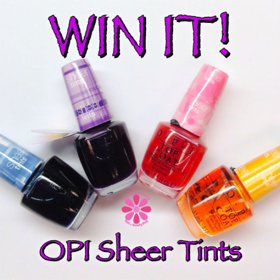 OPI Sheer Tints Giveaway