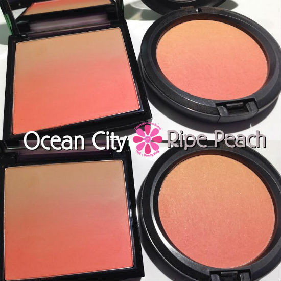 MAC Ocean City vs Ripe Peach Ombre Comparison