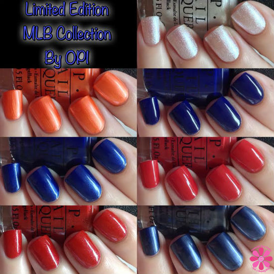 OPI Limited Edition MLB Collection Swatches & Review