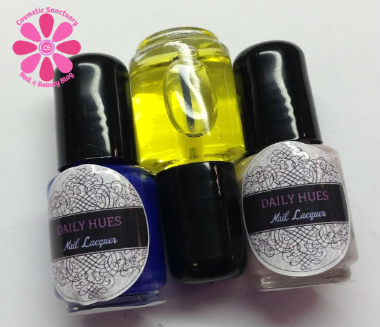 Daily Hues Nail Lacquer Ava & Hadley Swatches and Review