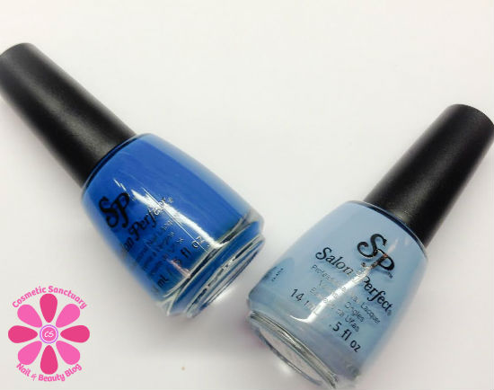 Salon Perfect In Bloom Duo Baby Blues & Smooth Sailing Swatches & Review
