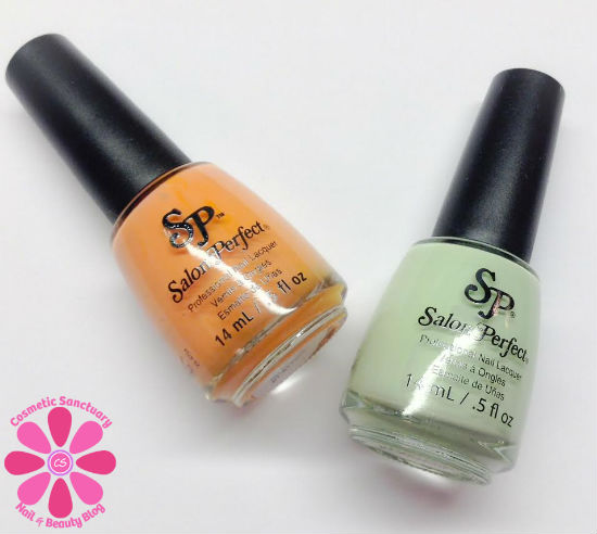 Salon Perfect In Bloom Duo Mint Julep & Bellini Swatches & Review
