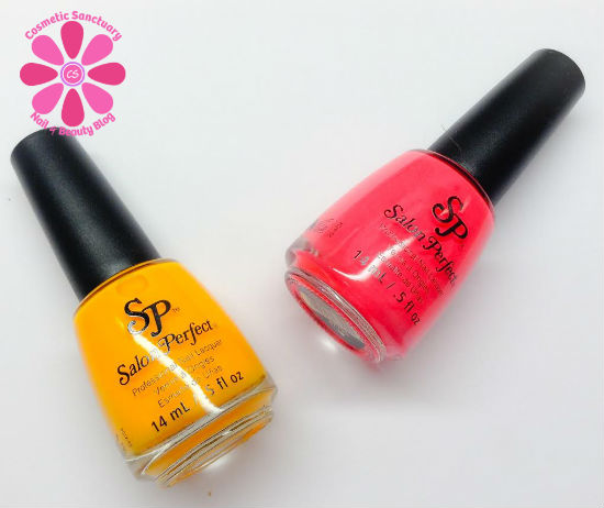 Salon Perfect Neon POP Nail Lacquer Duo Swatches & Review