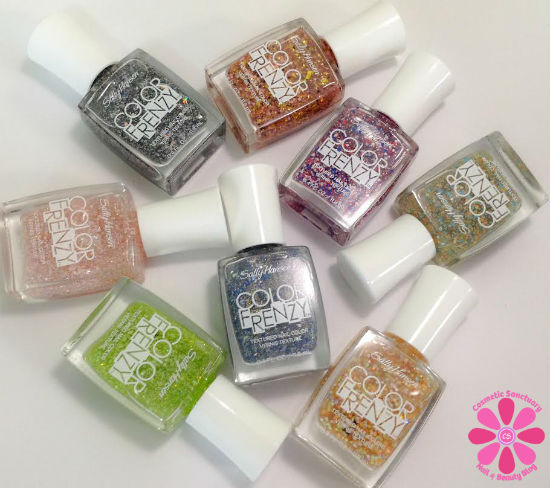 Sally Hansen Summer 2014 Limited Edition Color Frenzy Collection Swatches & Review