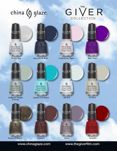 Press Release: China Glaze Limited Edition The Giver Collection