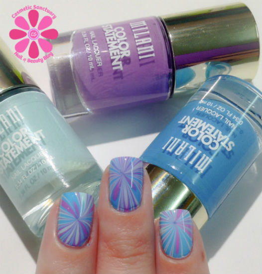 Milani Color Statement Water Marble Nail Art