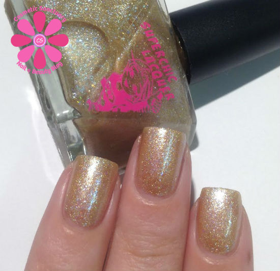 SuperChic Lacquer If The Golden Slipper Fits Swatches & Review