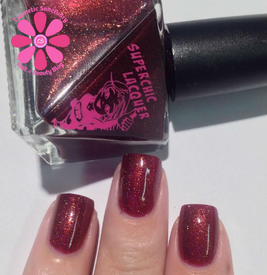 SuperChic Lacquer Little Vampy Riding Hood Swatches & Review