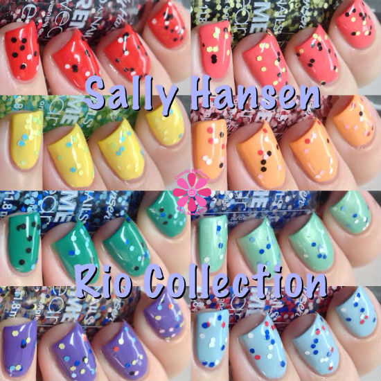 Sally Hansen Summer 2014 Xtreme Wear Rio Collection Swatches & Review