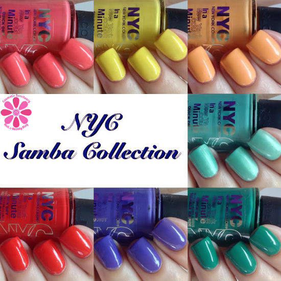 NYC Samba Collection Nail Polishes Swatches & Review