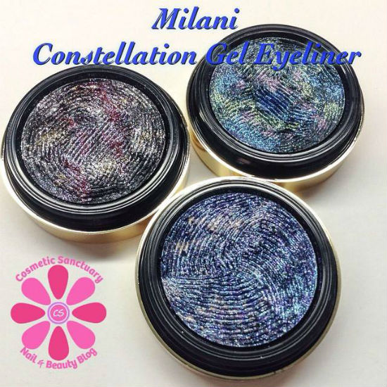 Milani Fall 2014 Constellation Gel Eye Liners Swatches & Review