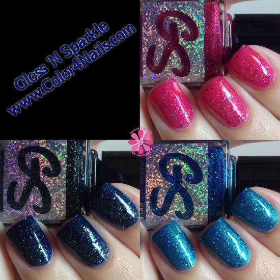 Gloss 'N Sparkle Above Deck, Amicable & Strawberry Spring Swatches & Review