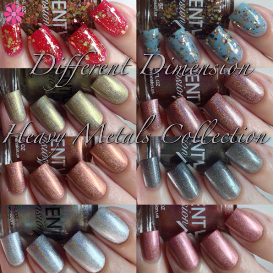 Different Dimension Fall 2014 Heavy Metals Collection Swatches & Review