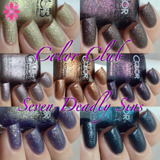 Color Club Fall 2014 Seven Deadly Sins Collection Swatches & Review