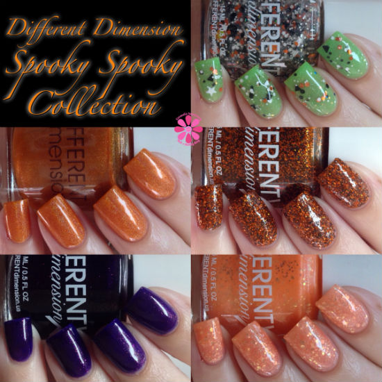 Different Dimension Halloween 2014 Spooky Spooky Collection Swatches & Review