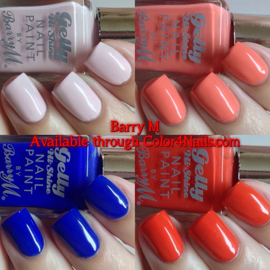 Barry M Gelly Nail Paint in Rose Hip, Blue Grape, Papaya & Satsuma Swatches & Review