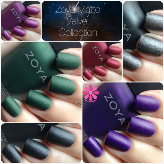 Zoya Matte Velvet Collection Swatches and Review
