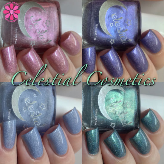 Celestial Cosmetics Limited Edition June, July, August & September 2014 Swatches & Review