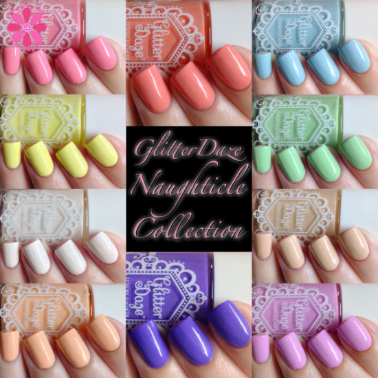 GlitterDaze Naughticle Collection Swatches & Review