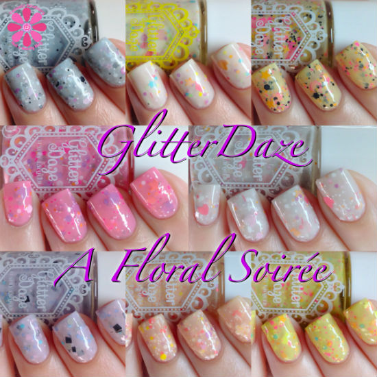 GlitterDaze A Floral Soiree Collection Swatches & Review