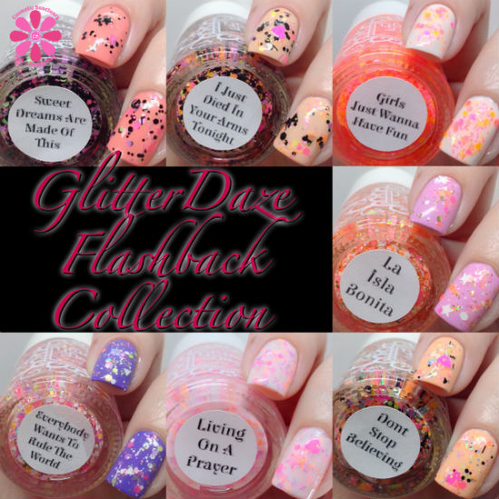 GlitterDaze Flashback Collection Swatches & Review