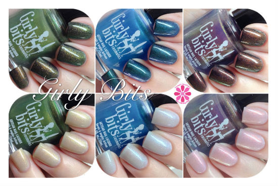 Girly Bits Cosmic Ocean, Shift Happens & Street Magic Swatches & Review