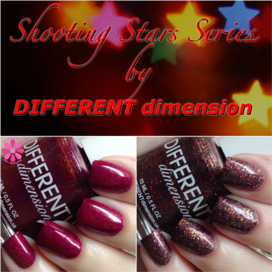 DIFFERENT dimension Shooting Stars Series Andromeda & Cepheus Swatches & Review