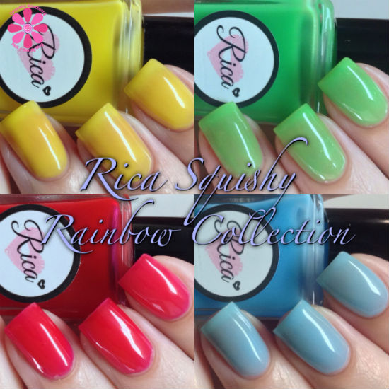 Rica Nail Polish Squishy Rainbow Partial Collection Swatches & Review