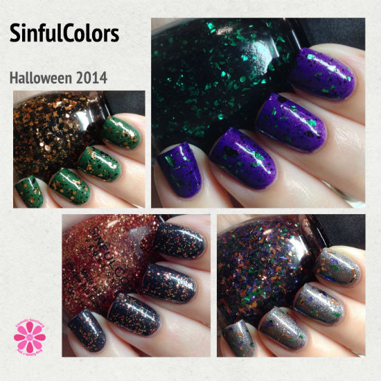 SinfulColors Tricked Out Top Coats for Halloween 2014 Swatches & Review