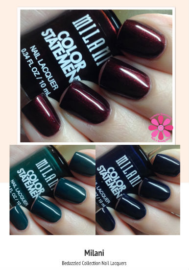 Milani Fall 2014 Bedazzled Collection Nail Lacquer Swatches & Review