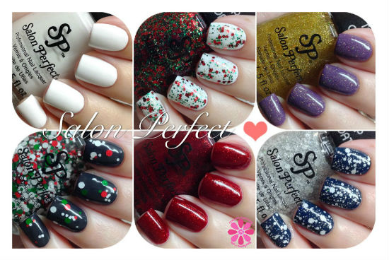 Salon Perfect & Nail It! Magazine 6 Piece Holiday Set Swatches & Review
