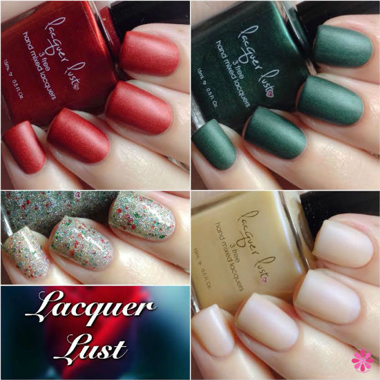 Lacquer Lust Velvet Rope, Pining Over You, Chiffon and I've Been A Good Unicorn Swatches & Review